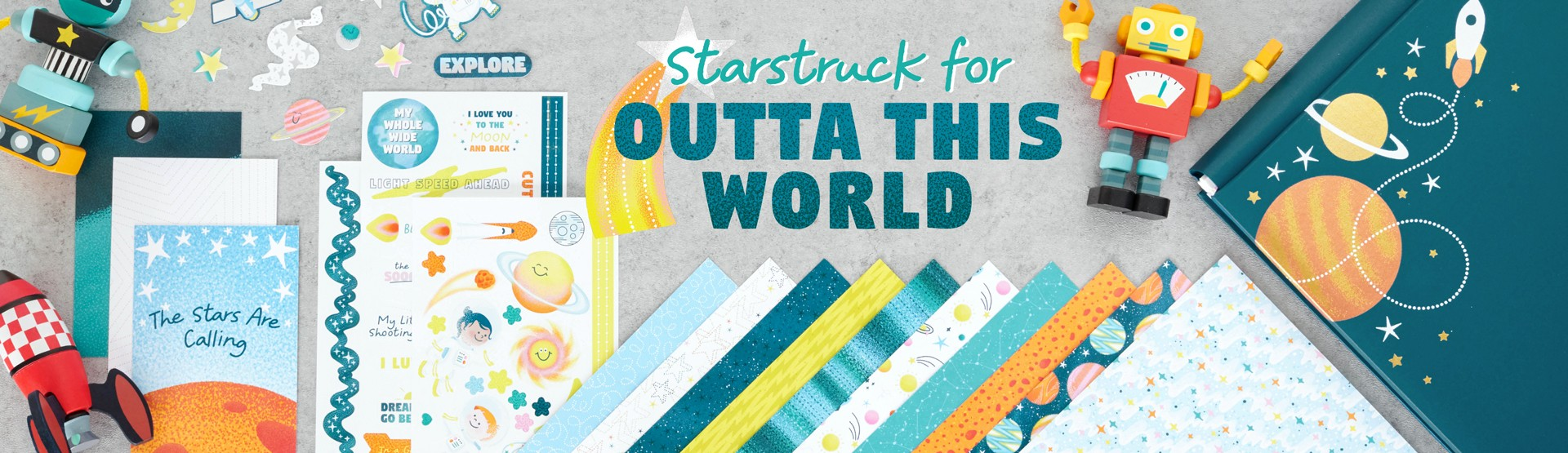Outer Space Scrapbooking Supplies: Outta This World