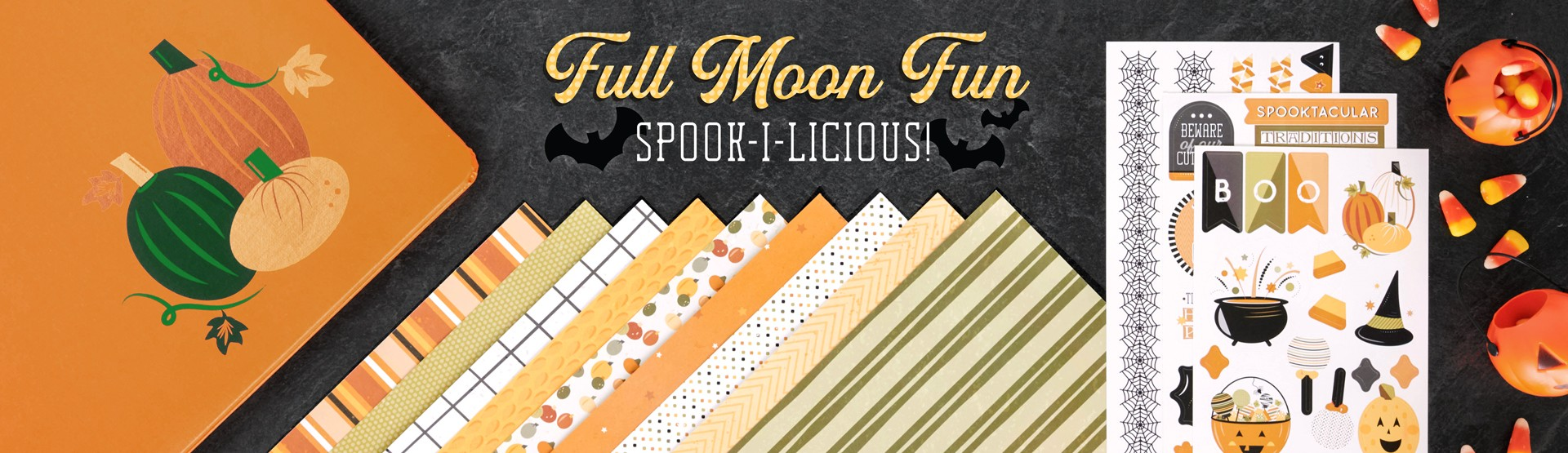 Halloween Scrapbooking Supplies: Full Moon Fun