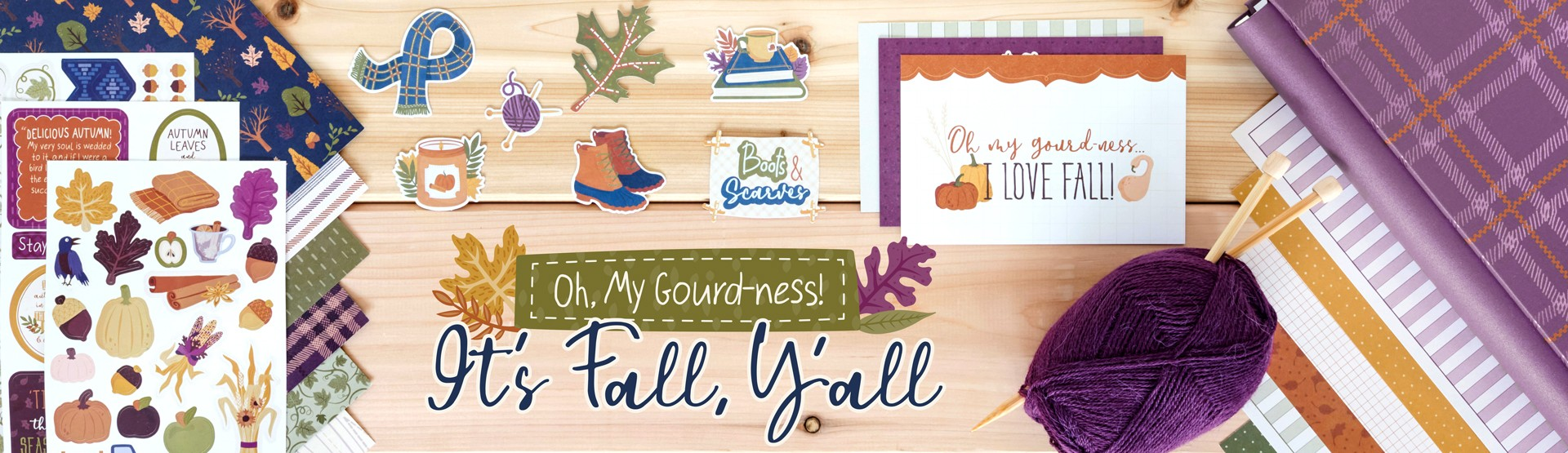 Fall Scrapbooking Supplies: It's Fall, Y'all