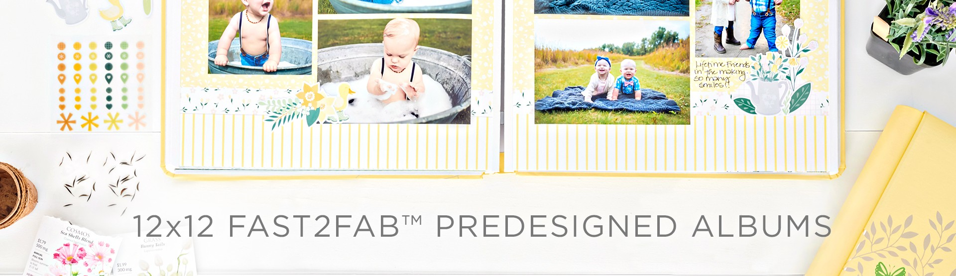 12x12 Fast2Fab Predesigned Albums