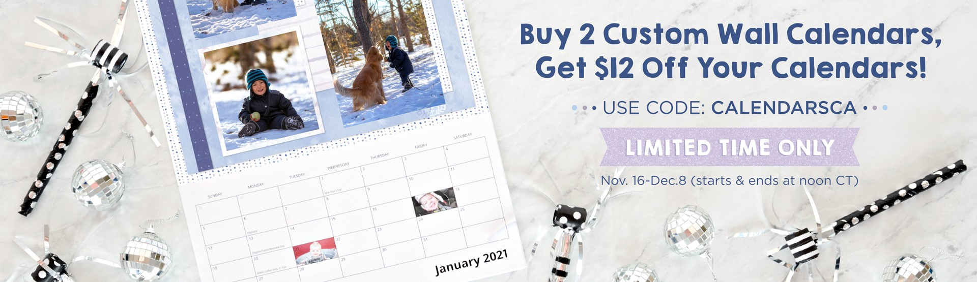LIMITED TIME: Custom Wall Calendars