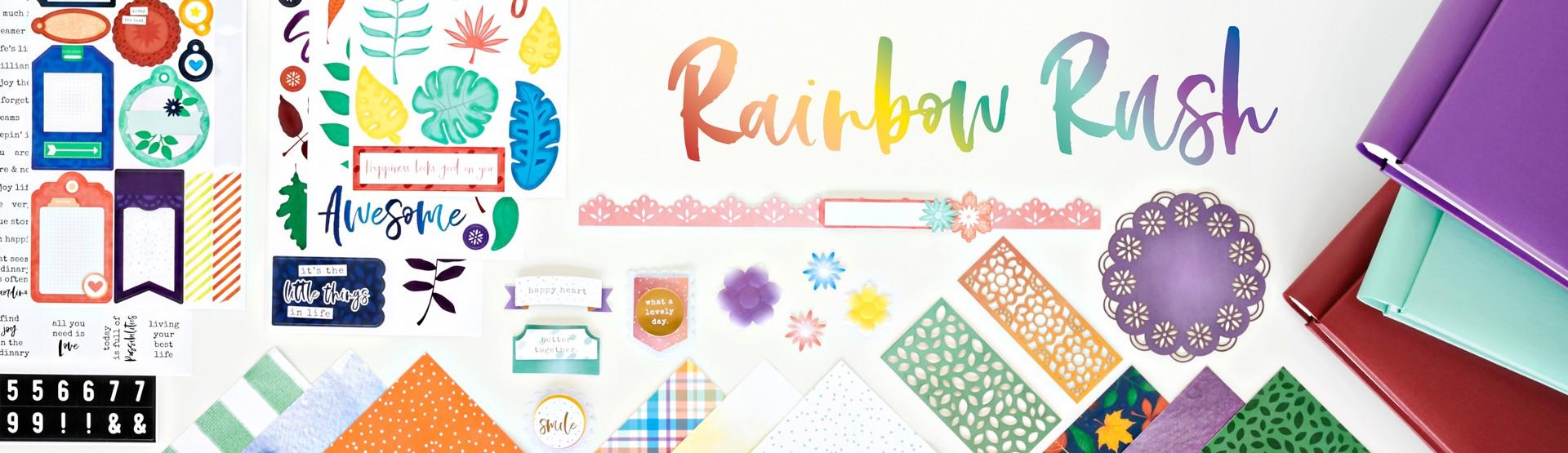 Mix & Match Scrapbook Supplies: Rainbow Rush