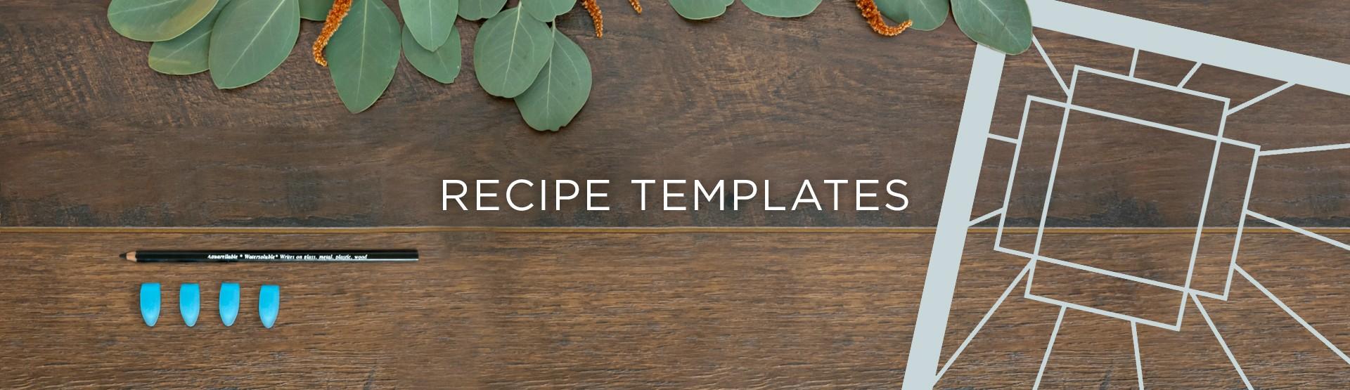 Recipe Templates