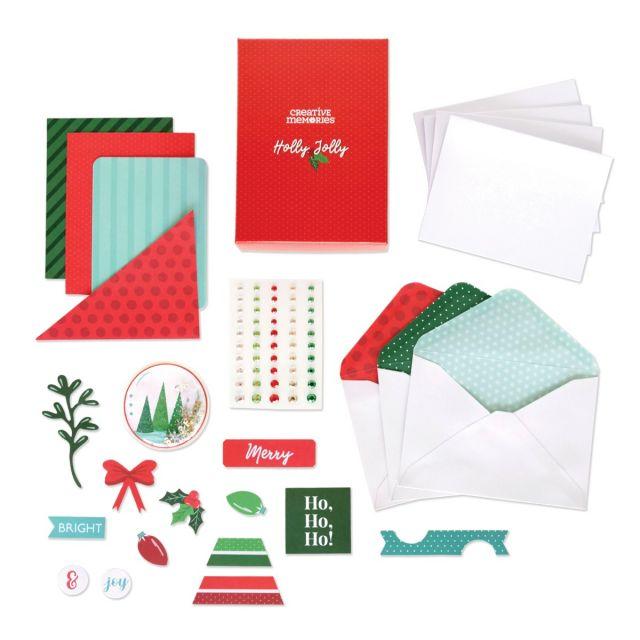 Diy Christmas Cards Holly Jolly Card Kit Creative Memories
