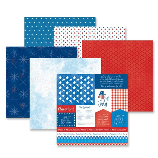 Creative Memories 12x12 Festive Fourth patriotic scrapbook paper