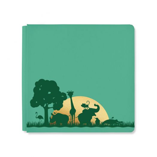 Creative Memories 12x12 green What a Zoo jungle album cover - 657308