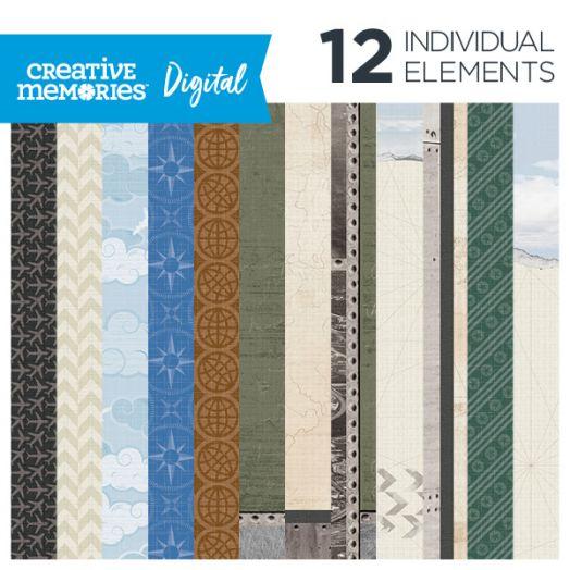 Creative Memories airplane digital paper