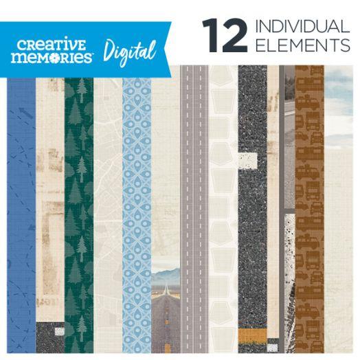 Creative Memories Automobiles digital paper