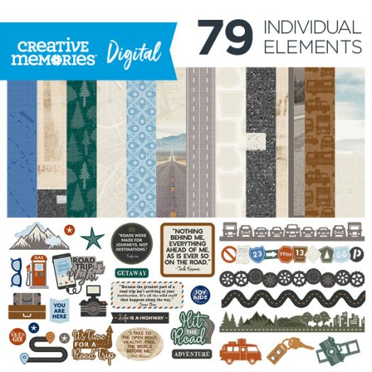 Creative Memories Automobiles digital scrapbook kit