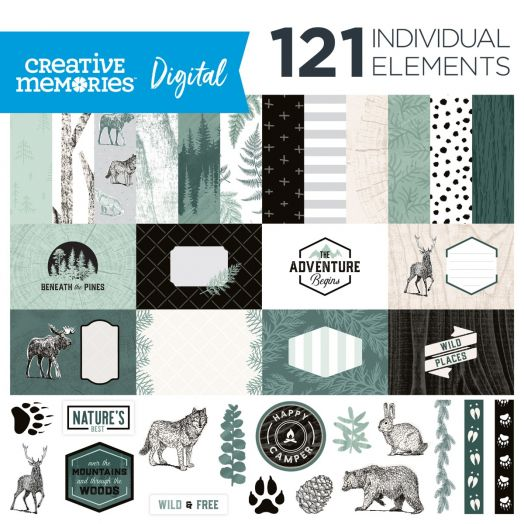 Creative Memories Beneath the Pines digital scrapbook kit