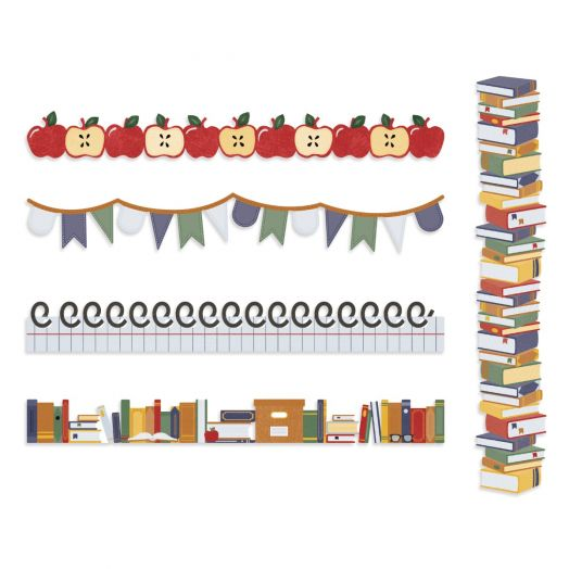 Creative Memories school themed borders - Book Smarts