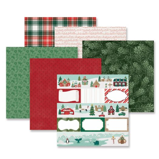 Creative Memories Christmas paper for scrapbooking - Christmas spirit