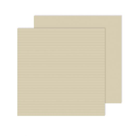 Creative Memories 12x12 natural lined paper for scrapbooking