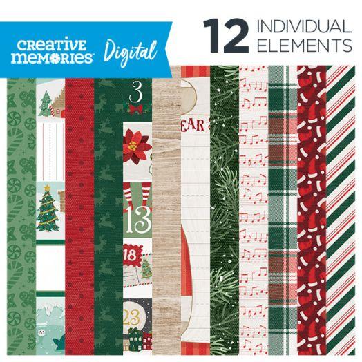 Christmas Digital Paper - Christmas Spirit