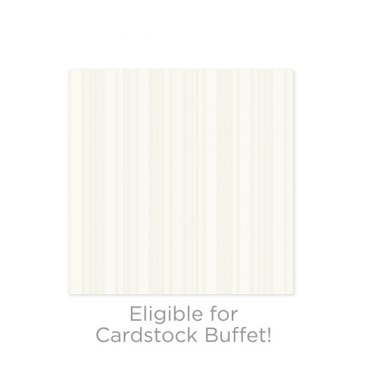 Creative Memories Limited Edition Pinstripe Pearl White Cardstock
