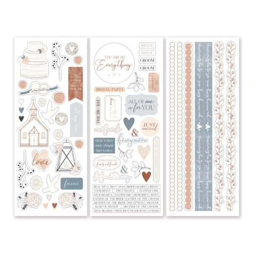 Creative Memories All My Love wedding stickers for scrapbooking