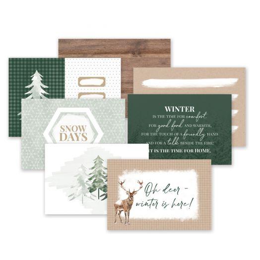 Creative Memories winter picture mats for scrapbooking - Winter Woods