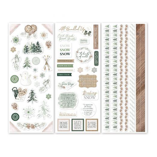 Creative Memories winter stickers for scrapbooking - Winter Woods