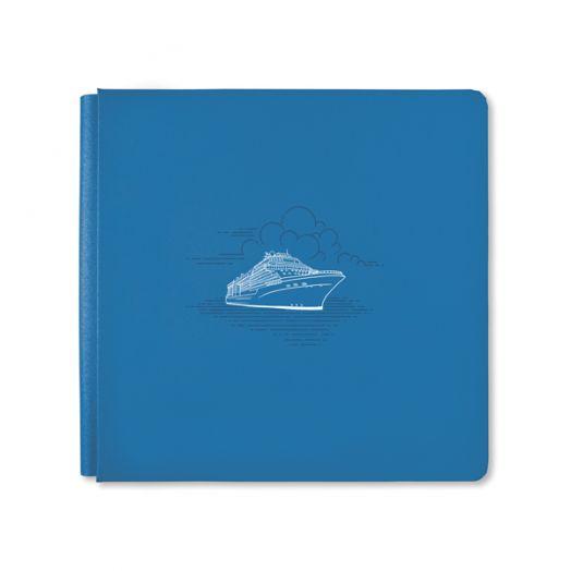 Creative Memories 12x12 Ocean Blue Bon Voyage cruise scrapbook album cover