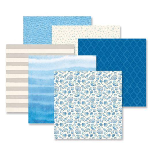 Creative Memories Deep Blue Sea nautical scrapbook paper - 657151