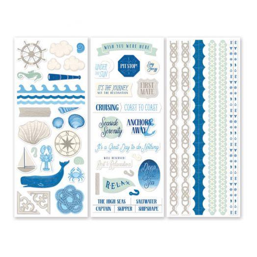 Creative Memories Deep Blue Sea nautical scrapbook stickers - 657153