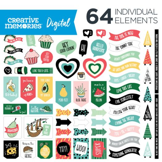 Creative Memories Designer's Choice digital scrapbooking elements