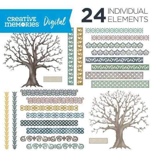 Digital Family Tree Elements - Creative Memories