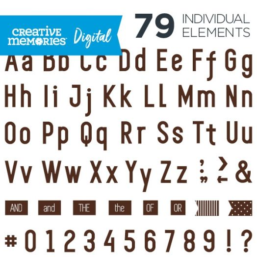 Digital Brown Sans Serif ABC/123 Elements