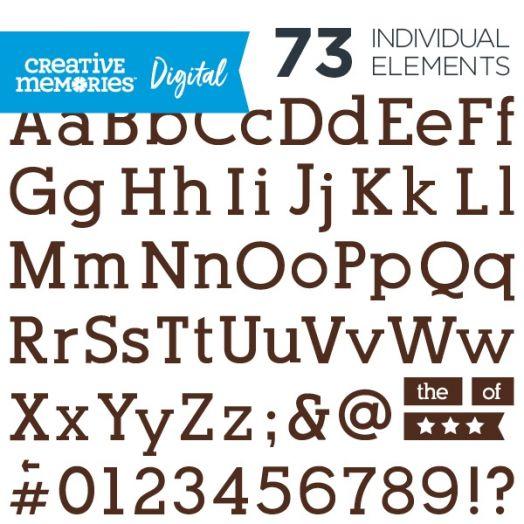 Digital Brown Serif ABC/123 Elements