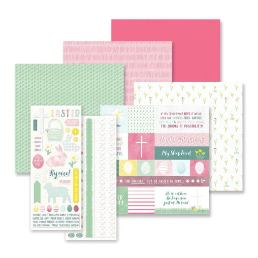 Creative Memories Easter Blessings easter scrapbook paper and easter stickers - 657725