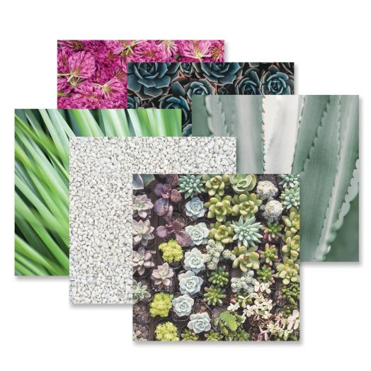 Creative Memories Glowing Gardens flower paper