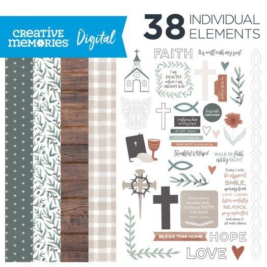 Religious Digital Scrapbooking Kit
