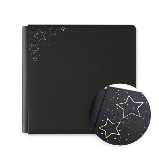 Creative Memories 12x12 Graduation scrapbook - black with foiled stars - 657320
