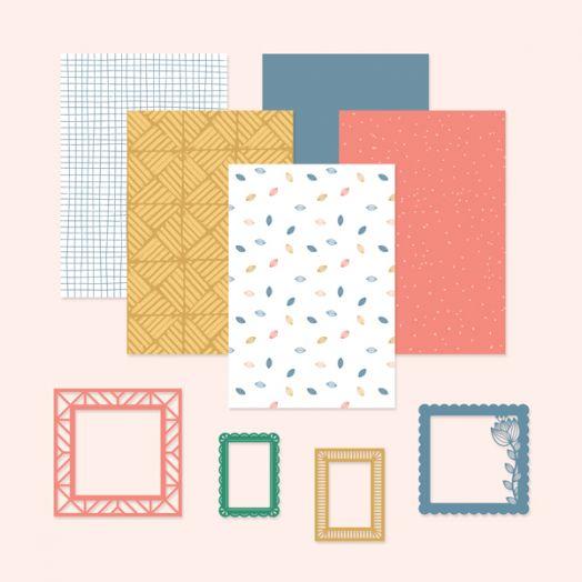 Happy Album scrapbook kit #16 - includes papers & embellishments to create scrapbook layouts - Creative Memories