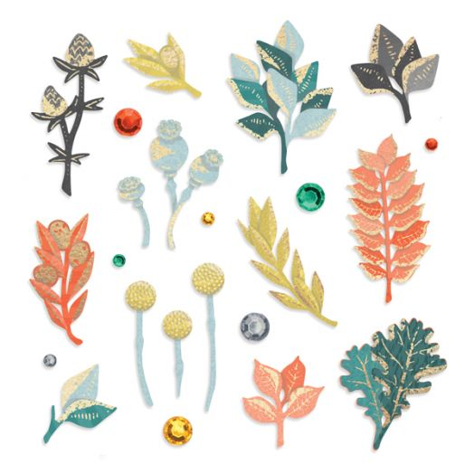 Creative Memories Harvest Delight fall embellishments, including fall die cuts - 657206