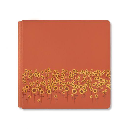 Creative Memories 12x12 orange Harvest Delight sunflower scrapbook album cover - 657207