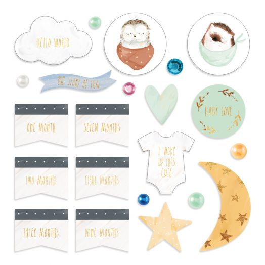 Creative Memories Little Dreamer baby embellishments for scrapbooking