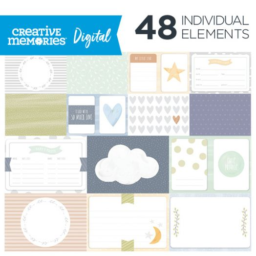 Creative Memories Little Dreamer baby themed digital picture mats