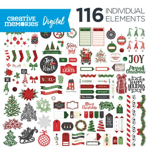 Digital Merry Little Christmas Elements - D657344