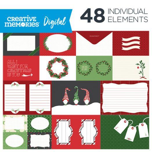 Creative Memories Merry Little Christmas digital photo mats - D657350