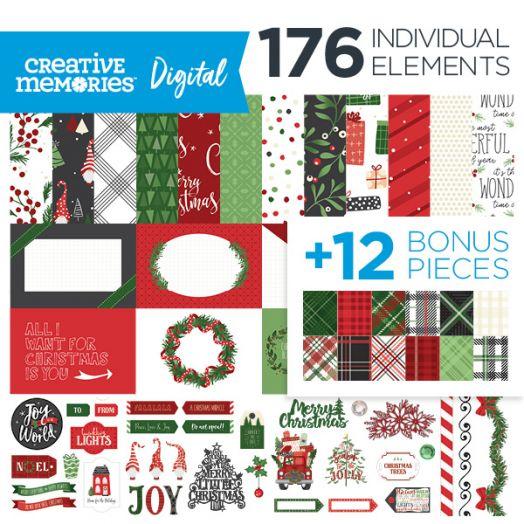 Creative Memories Merry Little Christmas digital scrapbook kit - D657498