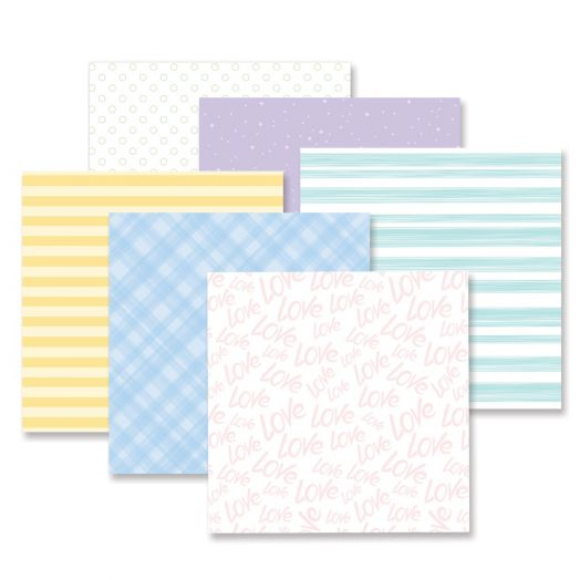 Creative Memories mix and match designer paper - Fresh Fusion Soft pack