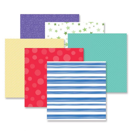 Creative Memories mix and match patterned paper - Fresh Fusion Cheerful pack