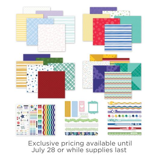 Creative Memories mix and match scrapbook kit - Fresh Fusion collection