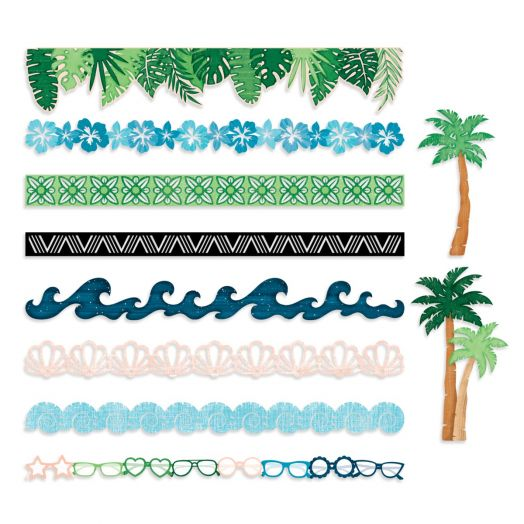 Creative Memories Vitamin Sea palm tree and tropical border embellishments