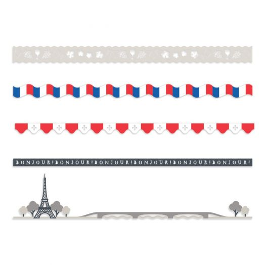 Creative Memories Paris themed scrapbook border embellishments
