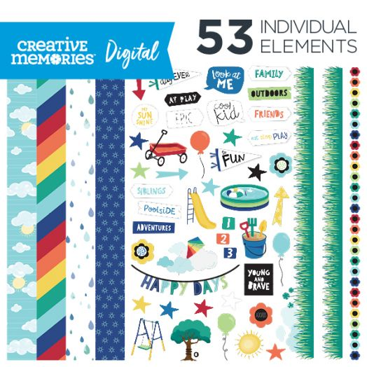 Creative Memories Playtime digital scrapbooking kids kit - D657299