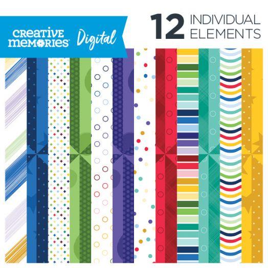 Mix and Match Digital Scrapbook Paper - Creative Memories