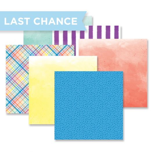 Creative Memories Rainbow Rush mix and match designer paper pack