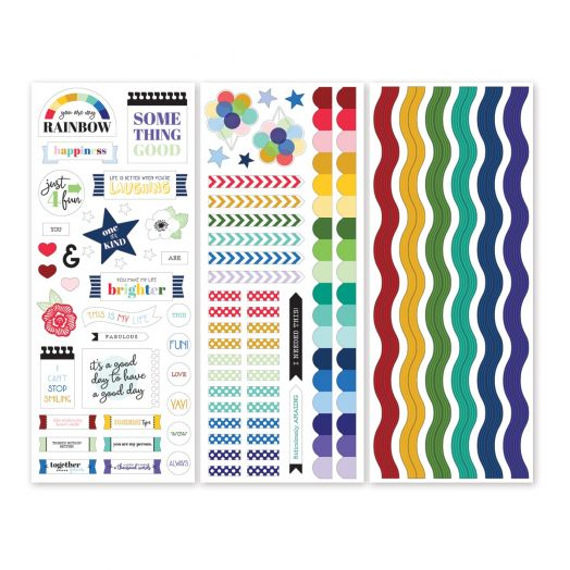 Creative Memories rainbow stickers - Fresh Fusion collection